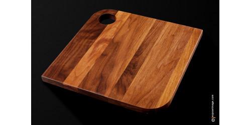 PLATEAU DE SERVICE à coins ronds fait de bois noble    12 x 12
