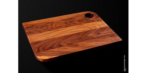 PLATEAU DE SERVICE  à coins ronds, fait de bois noble.    12 x 16